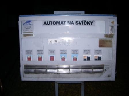Automat na svíčky. Nevídaná věc